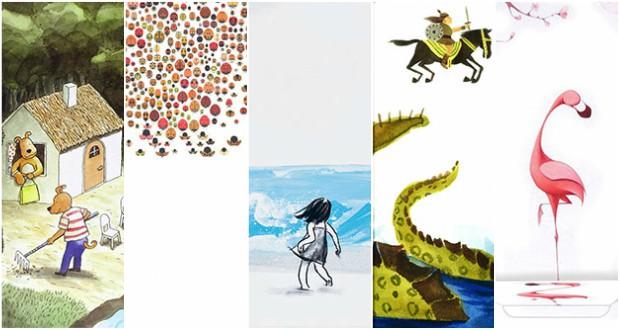 Cinque bei libri per bambini senza testo