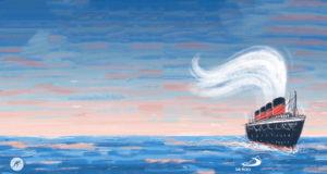 Particolare della copertina di Un sogno sull'oceano di Luigi Ballerini