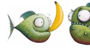 Aaron Blabey, I piranha non mangiano le banane. Storia di un piranha vegetariano