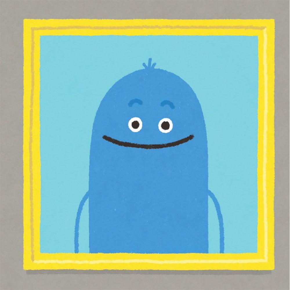 Min, il microbo che ci accompagna nella lettura di Non leccare questo libro